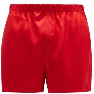 Ludovic de Saint Sernin Silk-satin Boxer Shorts - Red