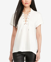 Polo Ralph Lauren Lace-Up Mesh Polo