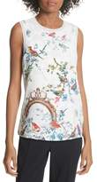 Ted Baker Opulent Fauna Woven Front Top