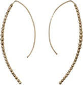 Mizuki Open Marquis Diamond Hoop Earrings