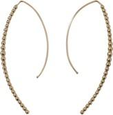 Mizuki Open Marquis Diamond Hoop Earrings