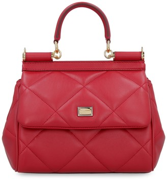 Dolce & Gabbana Sicily Quilted Leather Handbag
