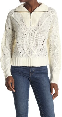 360 Cashmere Lyndsay Cable Knit Sweater