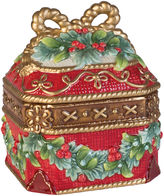 Fitz & Floyd Yuletide Holiday Lidded Box
