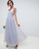 Asos Design DESIGN soft tulle maxi dress