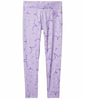 Converse Girl's Dri-FIT Gradient Star Graphic Leggings (Big Kids) Lilac Mist SM (7-8 Big Kids)