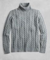 Brooks Brothers Golden Fleece 3-D Knit Marled Alpaca-Blend Turtleneck Cable Sweater