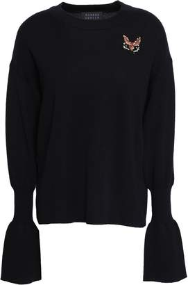 Markus Lupfer Nina Appliqued Crystal-embellished Merino Wool Sweater