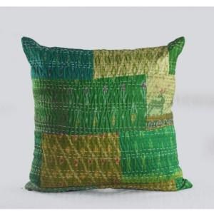 Lr Resources Inc. Peacock Kantha Throw Pillow