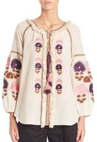 Figue Tula Embroidered Cotton Top