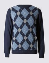 Marks and Spencer Pure Lambswool Crew Neck Jumper