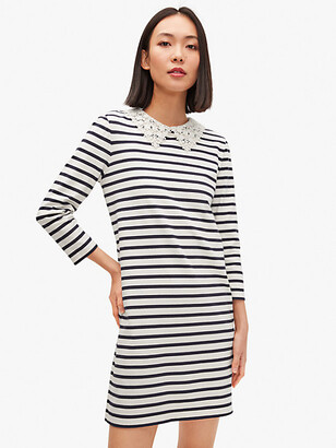 Kate Spade Lace Collar Striped Tee Dress