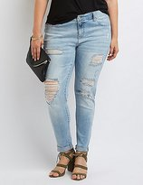 Charlotte Russe Plus Size Destroyed Skinny Jeans