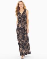 Soma Intimates Shirred Bodice Maxi Dress Balmy Bloom Soft Tan TL