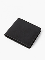 A.p.c. Black Grained Leather Wallet