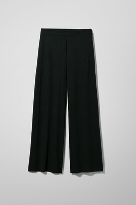 Weekday Danube Crinkled Trousers - Black
