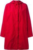 Issey Miyake hooded oversized jacket - women - Nylon/Polyester - One Size