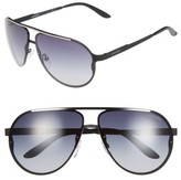 Carrera Men's Eyewear 65Mm Aviator Sunglasses - Matte Black/ Grey Gradient
