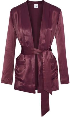 Iris & Ink Shannon Satin-twill Jacket