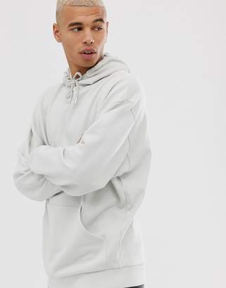 Asos Design DESIGN oversized hoodie in light grey