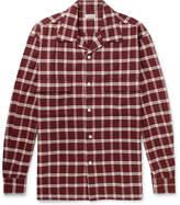 Camoshita Checked Cotton-Flannel Shirt