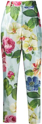 Dolce & Gabbana Floral Print Tailored Trousers