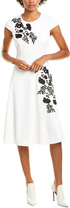 Maggy London Embroidered A-Line Dress