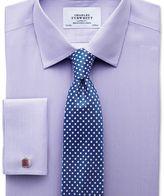 Charles Tyrwhitt Slim fit non-iron Bengal stripe lilac shirt