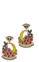 Elizabeth Cole Fruit Salad Earrings