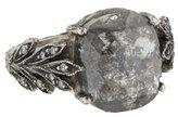 Cathy Waterman Platinum & Diamond Rustic Diamond Leafside Ring