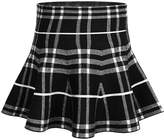 Storeofbaby Big Girls' Stretchy Flared Pleated School Skirt Plaid
