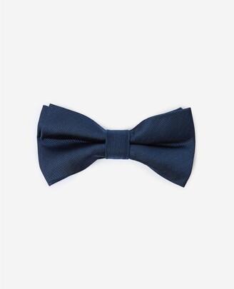 The Kooples Plain navy blue bow tie in silk