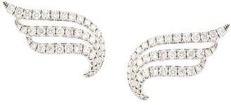 Anita Ko 18kt White Gold Large Diamond Wave Earrings