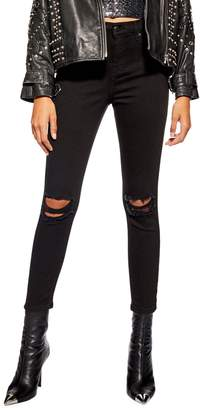 Topshop PETITE Ripped Jamie Skinny Jeans 28-Inch Leg