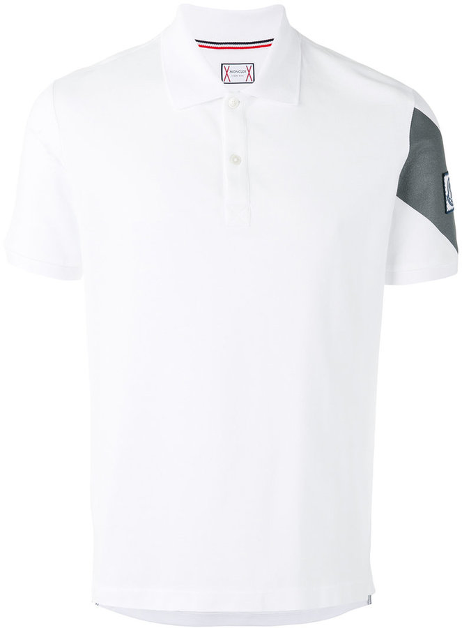 Moncler Gamme Bleu sleeve panel polo shirt