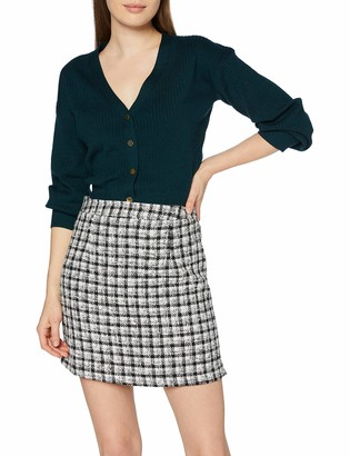 New Look Women's Gingham A-Line Checkered Skirt