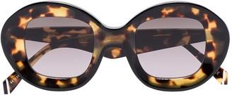KALEOS Arcos round-frame tortoiseshell sunglasses