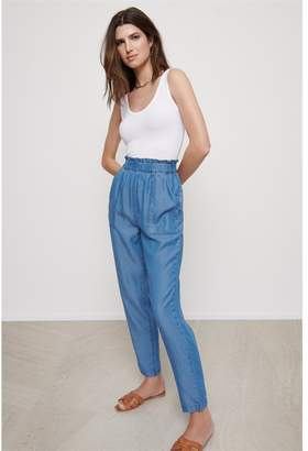 Dynamite Cindy Ultra High-Rise Tencel Ankle Pant Indigo Medium