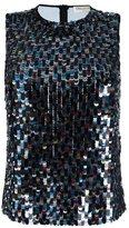 Emilio Pucci sequin embellished tank top - women - Silk/Polyamide - 40