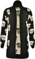 Xclusive Collection New Womens Plus Size Skull Knit Boy Friend Cardigans Winter Knitted Jumpers