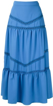 Martha Medeiros Panelled Midi Skirt