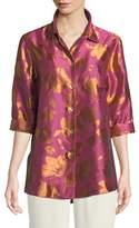 Caroline Rose Summer Social Jacquard Cocktail Shirt
