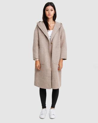 Belle & Bloom Walk This Way Wool Blend Hooded Coat