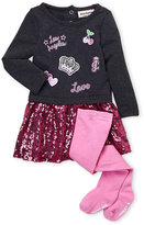 Juicy Couture Newborn/Infant Girls) Two-Piece Sequin Sweater Dress & Tights Set