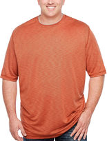 Van Heusen Short Sleeve Two-Tone Slub Crew Doubler Short Sleeve Crew Neck T-Shirt-Big and Tall