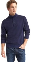 Gap French rib-knit mockneck henley