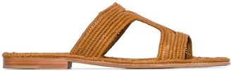 Carrie Forbes Moha raffia flat sandals