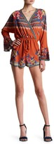 Flying Tomato Floral Tie Waist Romper