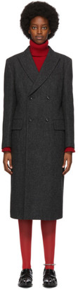 Junya Watanabe Grey Wool Herringbone Coat
