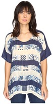Johnny Was Retreat Panel Top Women's Clothing